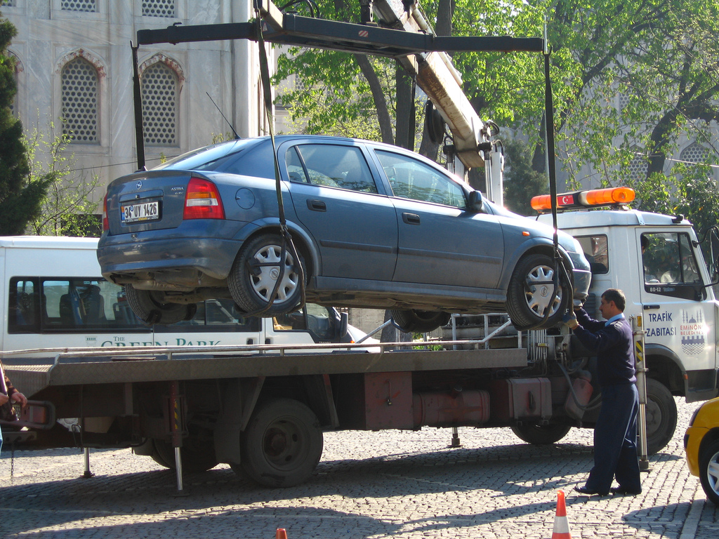 car being towed bankruptcy