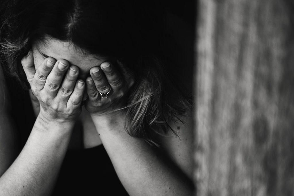 bankruptcy woman upset